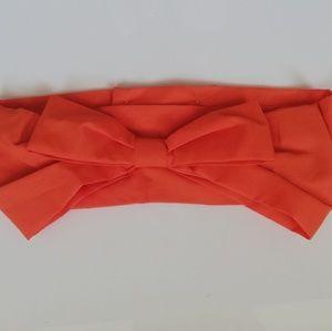 Orange cotton fabric belt